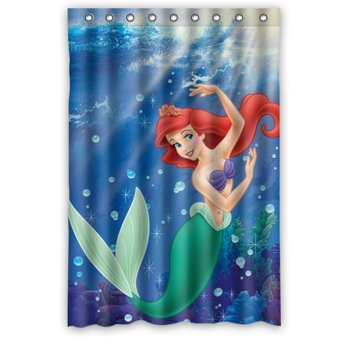 DEYOU The Little Mermaid Dance Bubble Shower Curtain Polyester Fabric Bathroom Shower Curtain Size 48x72 inches