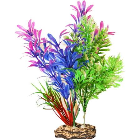 SPORN Aquatics 7-Inch Blue/Purple Hygrophilia Standing Aquarium Plant (Aquarium Decor Zombie)
