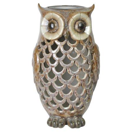 Moonrays 91581 Solar Powered White Led Owl