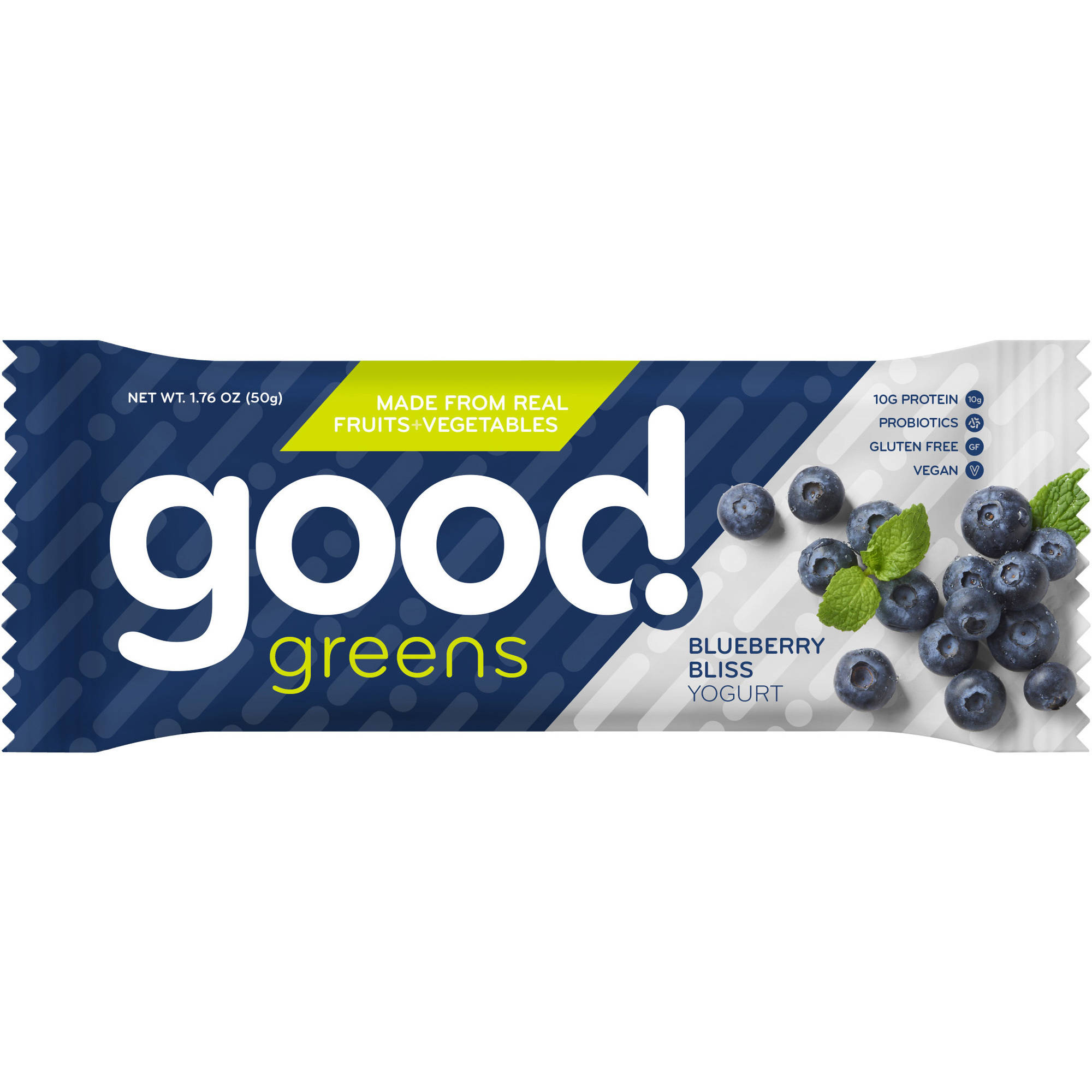 Good Greens Blueberry Bliss Yogurt Nutrition Bars, 1.76 oz, 12 count