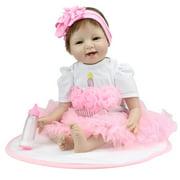 "Zimtown 22"" Lifelike Reborn Baby Dolls Newborn Soft Vinyl Silicone Doll Handmade Christmas Gift"