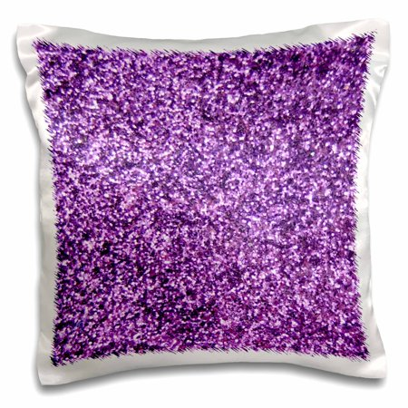 3dRose Purple Faux Glitter - photo of glittery texture - fashionable girly trendy glam sparkly bling effect - Pillow Case, 16 by (Textured Effect)