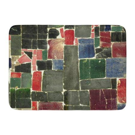GODPOK Green Random Orange Interior Ceramic Mosaic Blue Irregular Red Architectural Rug Doormat Bath Mat 23.6x15.7 inch