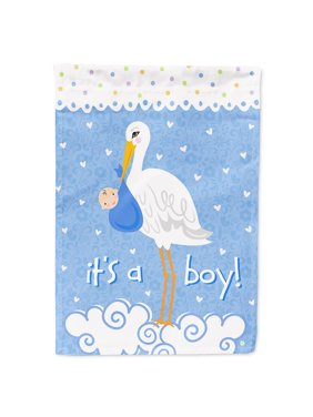 It's a Baby Boy Flag Canvas House Size