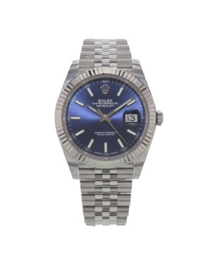 Rolex Datejust 41 126334 blij Blue Index Steel 18K White Gold Automatic Watch