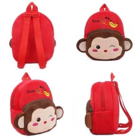 Kid Boy Girl Children Baby Animal Cartoon Bags Backpack Zoo School Lunch Bag Rucksack - image 5 of 5