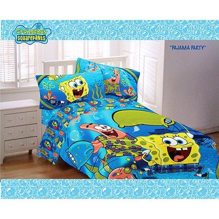 Nickelodeon Spongebob Pajama Party Twin Sheet Set
