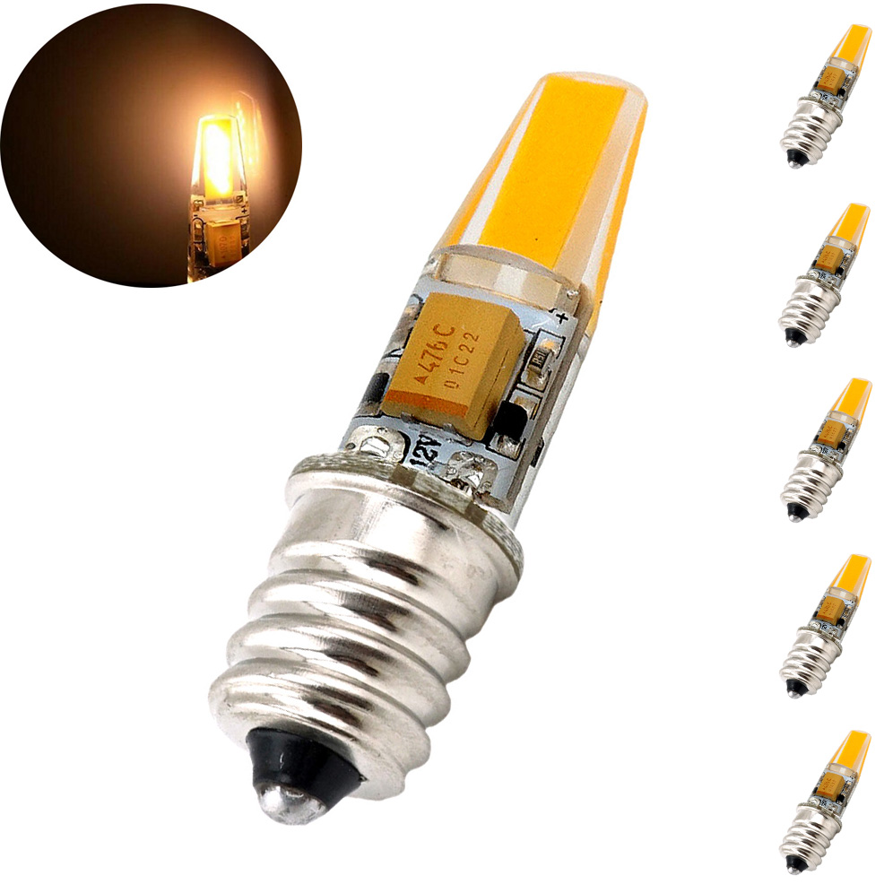 Bonlux 2W E12 Candelabra LED Bulb Indicator Light 20W Halogen Replacement Bulb, 12V AC/DC Warm White 3000k, 5-Pack