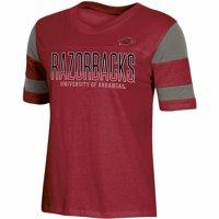 Women's Russell Athletic Cardinal Arkansas Razorbacks Boxy T-Shirt