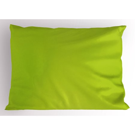 Lime Green Pillow Sham Empty Backdrop Blurry Off Focus Pastel Toned Shade Color Spring Theme Abstract, Decorative Standard Size Printed Pillowcase, 26 X 20 Inches, Apple Green, by - Spring Backdrops