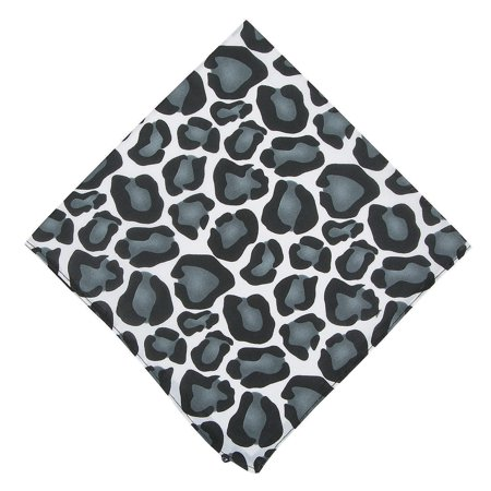 Fun Express - Animal Print Bandana Gray 1pc for Spring - Apparel Accessories - Hats - Bandannas - Spring - 1 Piece