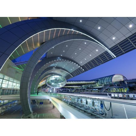 Terminal 3, Dubai International Airport, Dubai, Uae Print Wall Art By Gavin Hellier