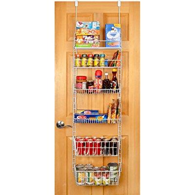 ... Pro Mart Dazz Deluxe Over The Door Adjustable Pantry Organizer Rack, 6  Shelves,