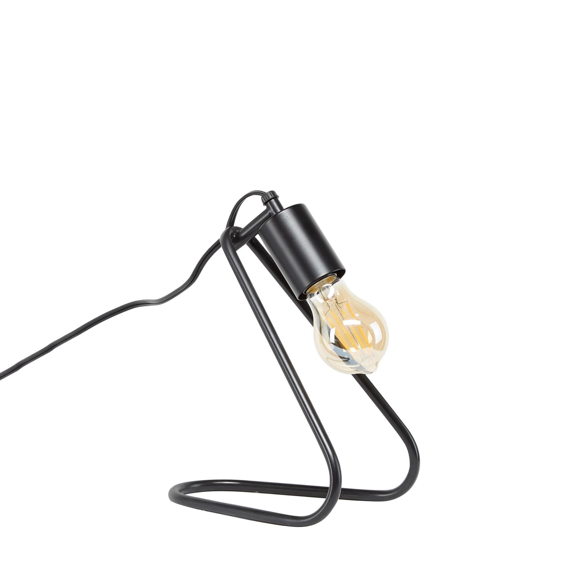 Shuyler Exposed Bulb Angeled Table Lamp
