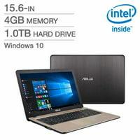 Asus Computers X540MA-QC1-CB Chocolate Black/Gold No Touch Screen 15.6inHD (1366X768) Intel Celeron N4000 1.1GHz 4GB LPD