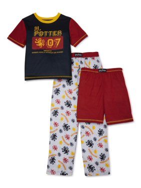 Harry Potter Boys Quidditch, 3-Piece Pajama Sleep Set, Sizes 4-12