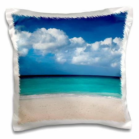 3dRose White sandy beach at Eagle Beach, Oranjestad, Aruba - Pillow Case, 16 by (Eagle Creek Pillow)