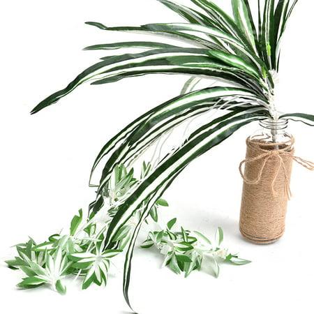 Emulational plante verte petit chlorophytum fleurs artificielles plante verte herbe verte mur aménagement paysager décoration artisanat pour la décoration intérieure - image 2 de 9