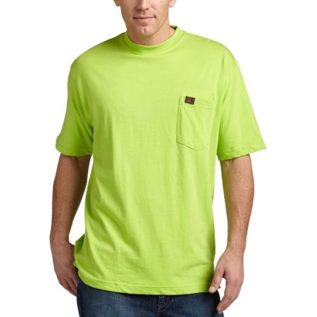 RIGGS WORKWEAR by Wrangler Men's Pocket T-Shirt, Safety Green, X-Large