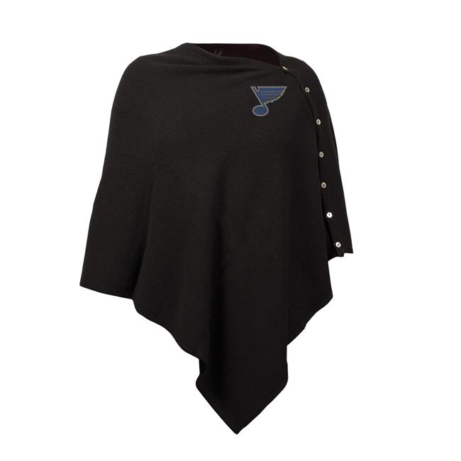 Little Earth 500653-BLUE NHL St. Louis Blues Black Out Button Poncho by Little Earth