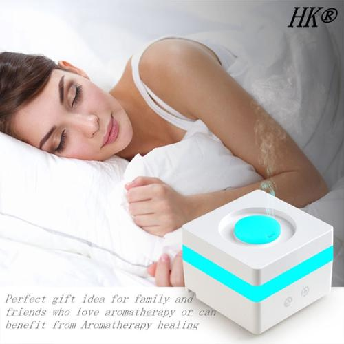 120ml Aromatherapy Essential Oil Diffuser with 7 Color LED Lights Changing waterless Auto Shut-off (Square Size)