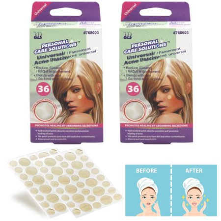 72 Pc Acne Patch Pimple Cover Spot Sticker Clear Skin Care Assorted Round Sizes
