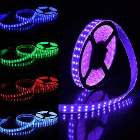 (LED4Everything (TM) 5M 16.4ft 12V SMD RGB 5050 IP67 Waterproof 600 LED Double Row Tube Strip Light)
