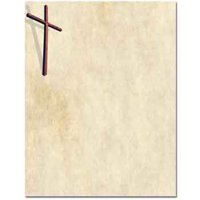Wooden Cross Letterhead Letterhead Laser & Inkjet Printer Paper