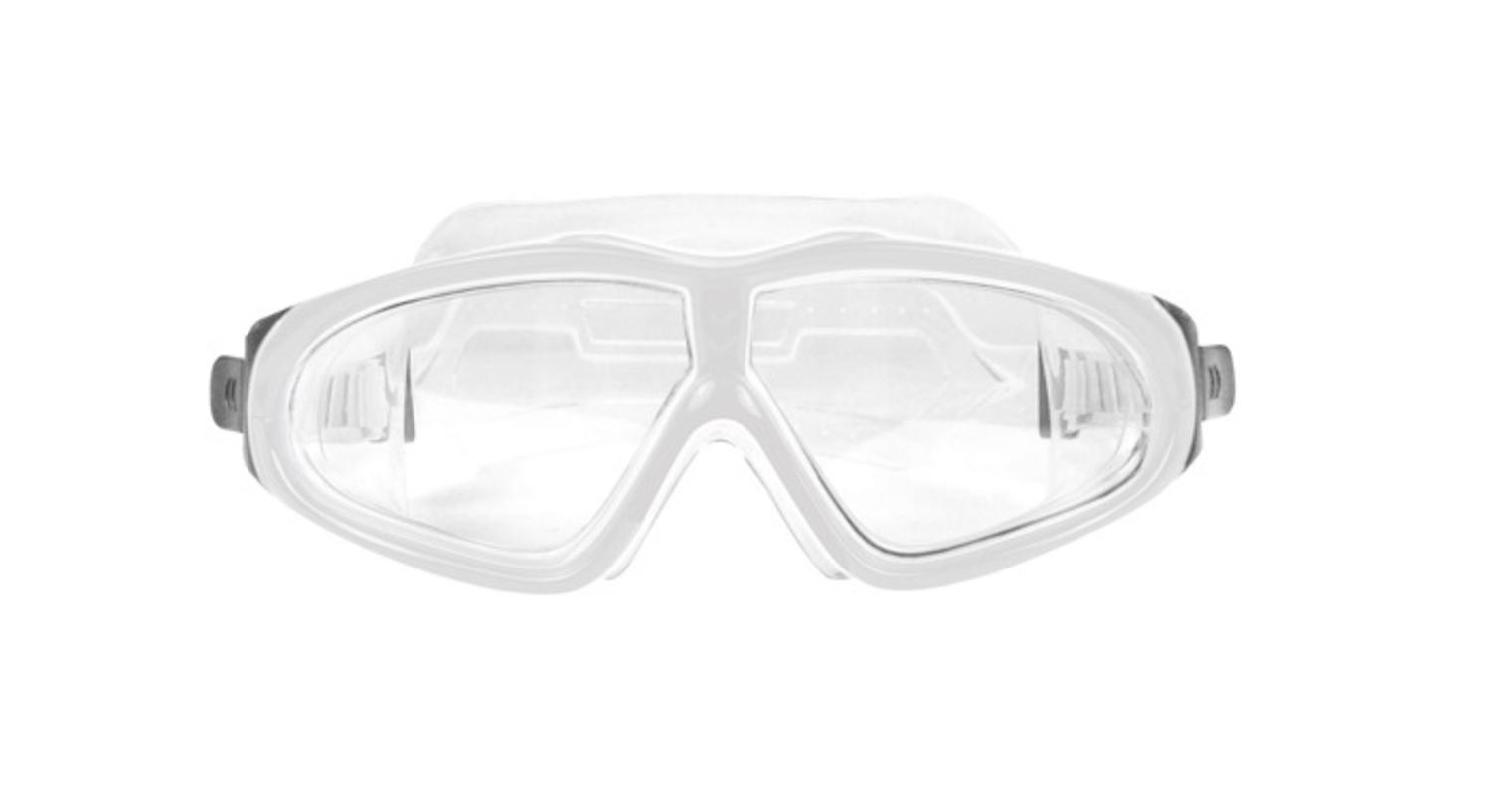 """7"""" EZ Fit DLX Sport White Goggles Swimming Pool Accessory for Adults and Children by Swim Central"""