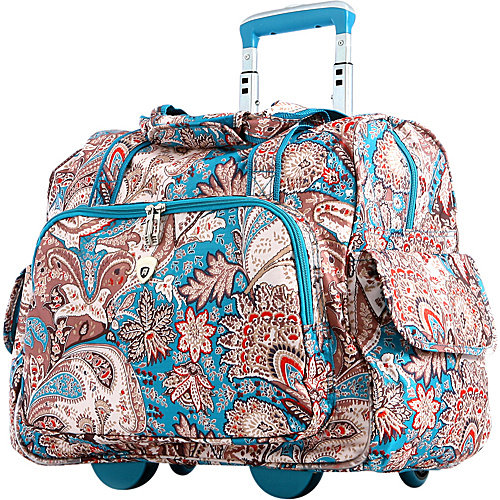 Olympia Deluxe Fashion Rolling Laptop Overnighter