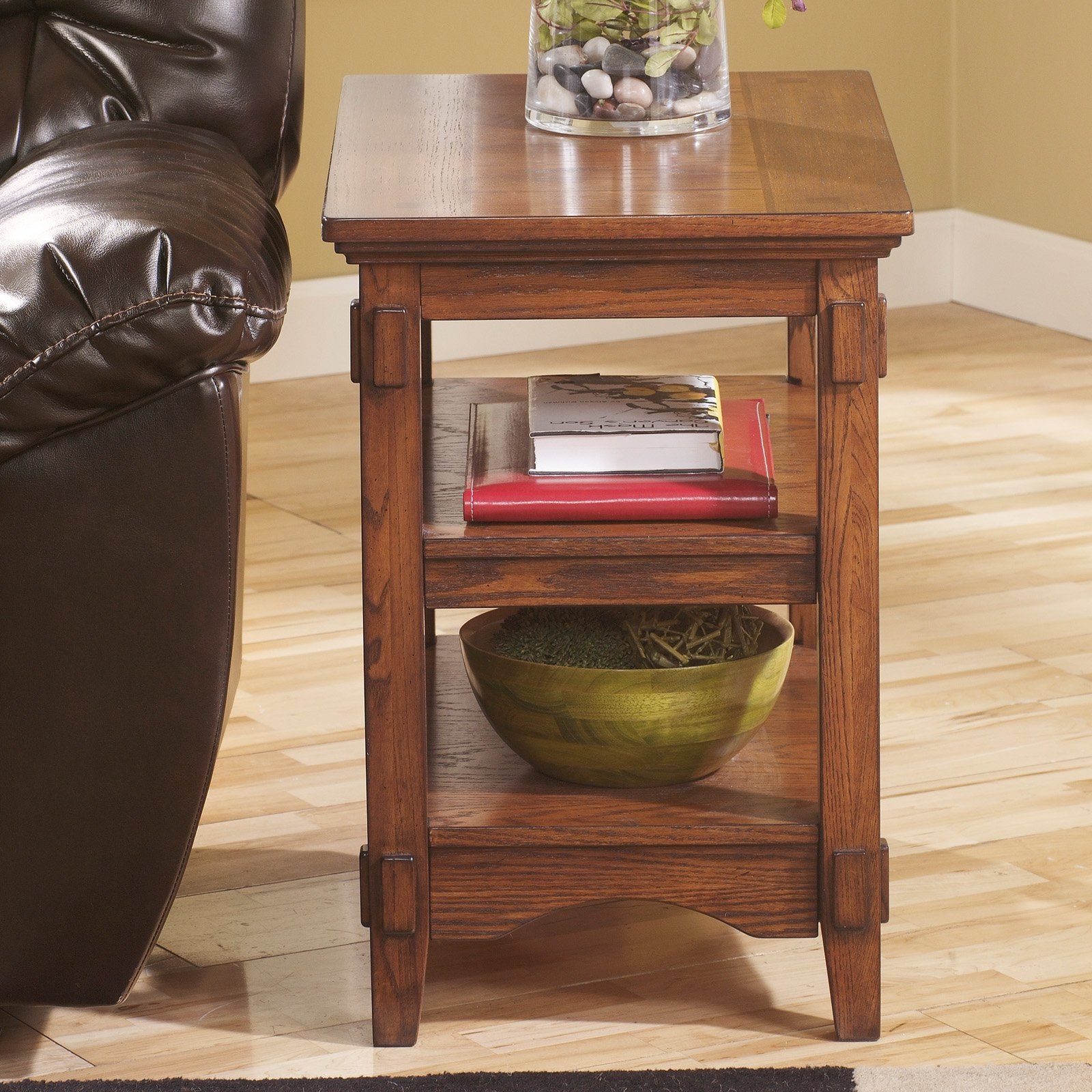 Signature Design By Ashley Cross Island Brown Chair Side End Table