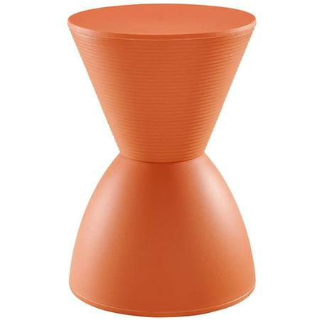 """Modway Haste 17"""" Storage Stool in Orange"""