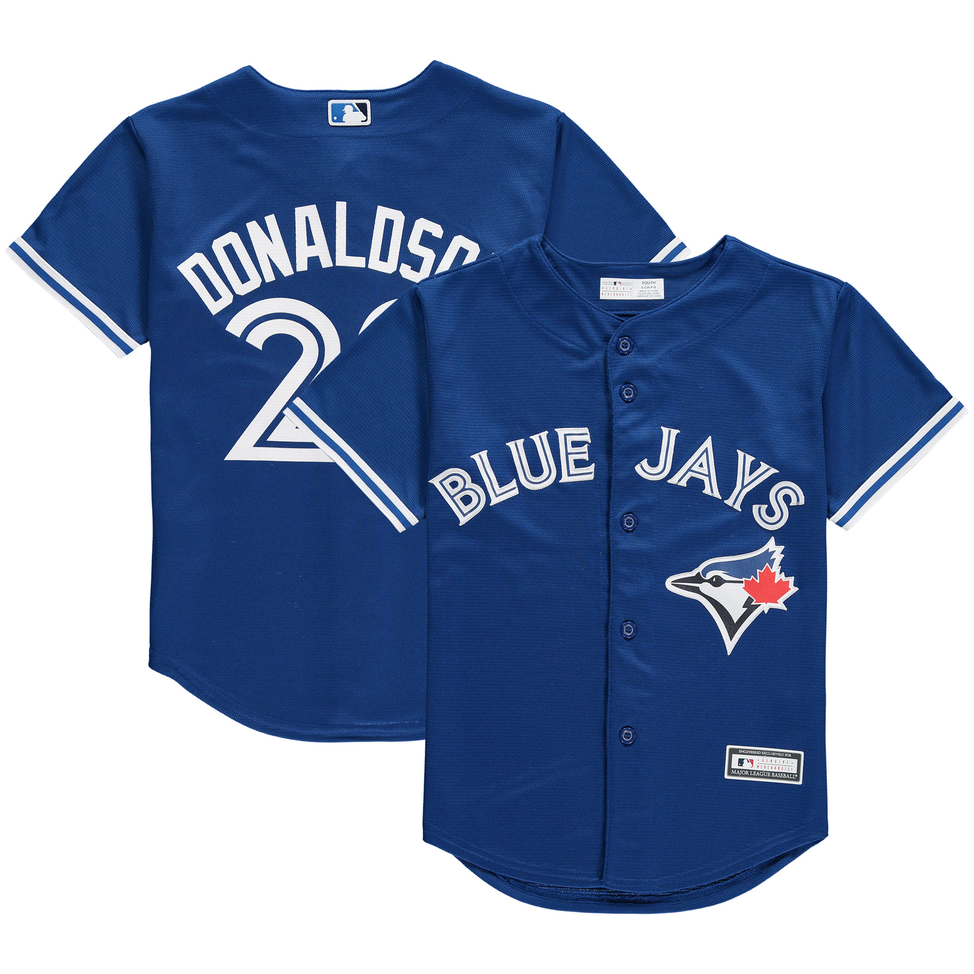 Josh Donaldson Toronto Blue Jays Youth Player Replica Jersey - Royal