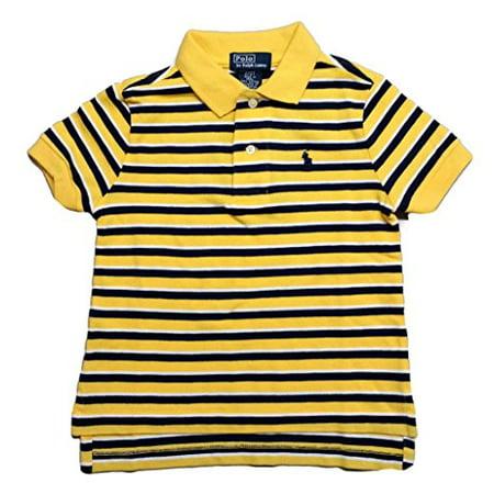665ac84bd Ralph Lauren - Ralph Lauren Little Boys' Striped Rugby Collar Polo Shirt -  Yellow - Size 2T - Walmart.com