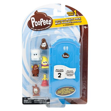 Poopeez Series 1 Porta Potty Multi Pack Squishy Collectible Toy, There's nothing better than an unused porta potty! By Basic Fun ()