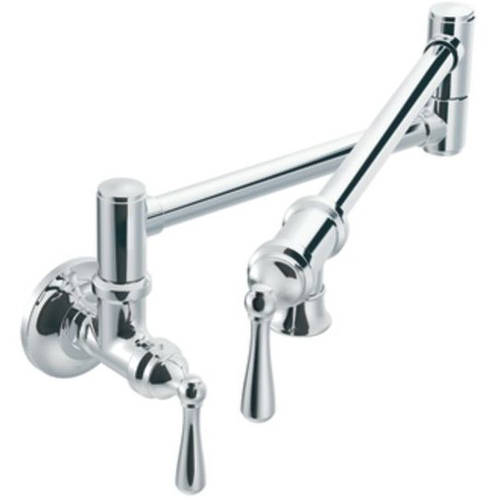 Moen S664SRS Pot Filler Double Handle Bar Faucet, Available in Various Colors