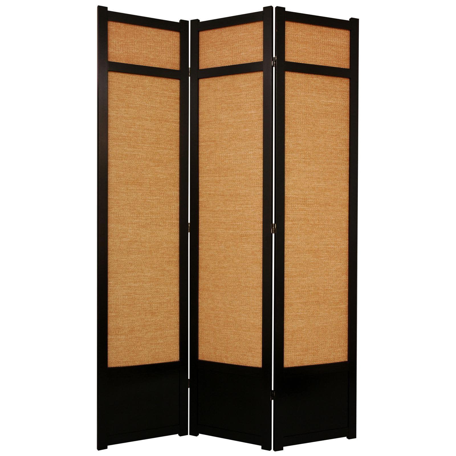 Oriental Furniture Jute Fiber Shoji Screen Room Divider 84 Inch