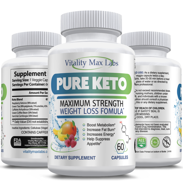 Pure Keto Diet Pills Ketosis Fat Burner For Weight Loss 60 Ct