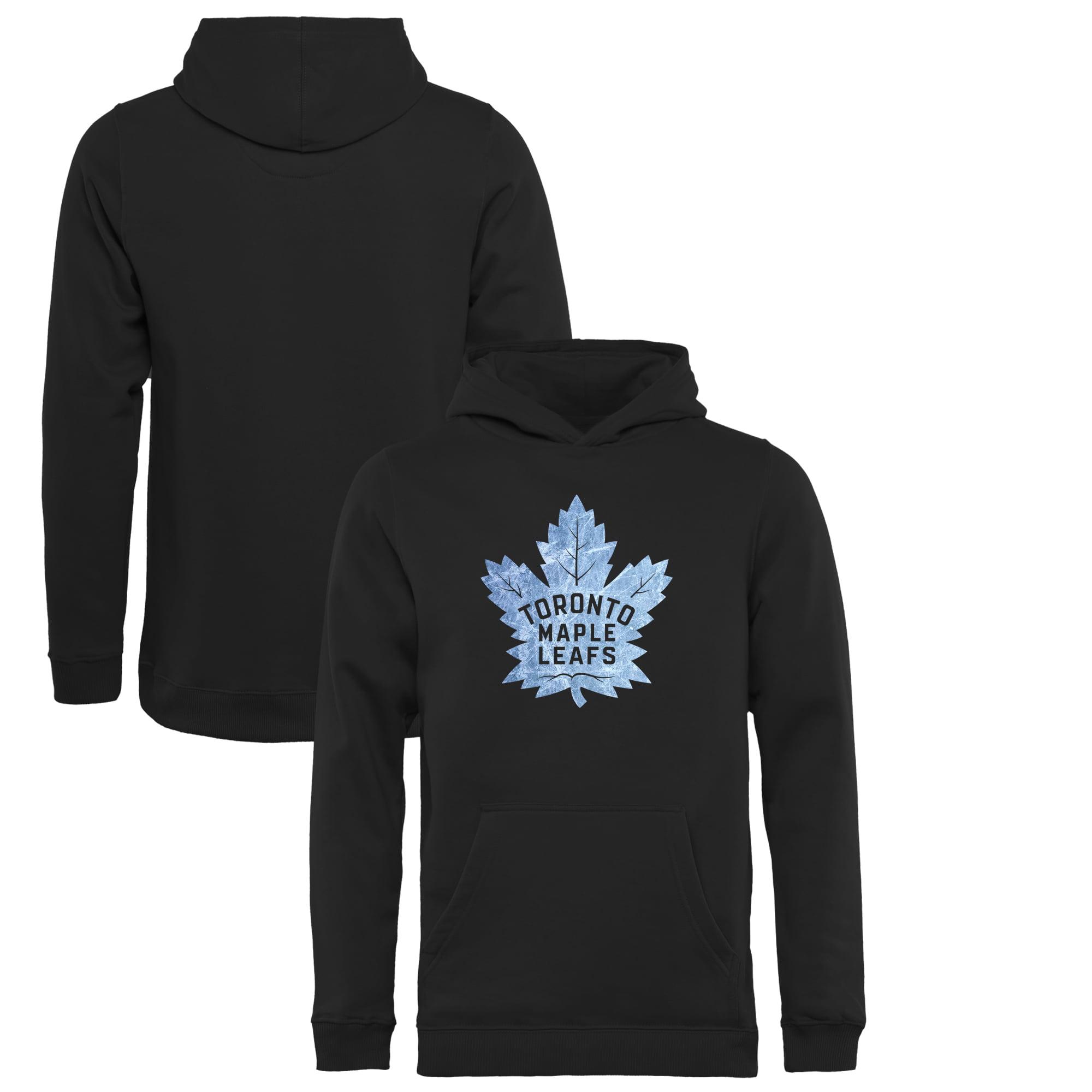 Toronto Maple Leafs Youth Pond Hockey Pullover Hoodie - Black