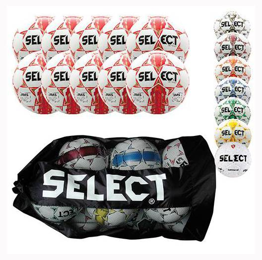 Soccerball in White and Yellow Set of 10 by Athletic Connection