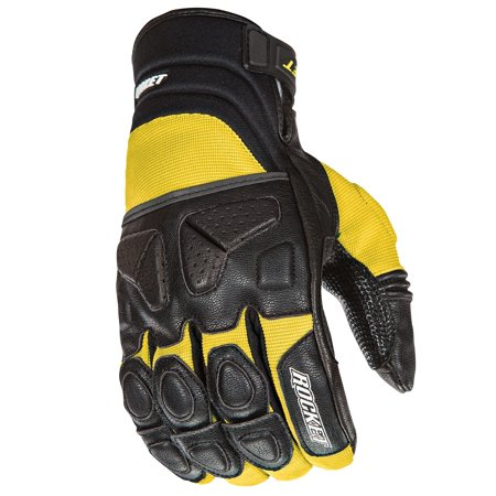 Joe Rocket Waterproof Gloves (Joe Rocket Atomic X Mens Yellow/Black Leather Motorcycle Gloves )