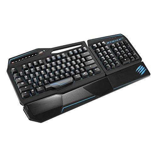 Mad Catz S.t.r.i.k.e. Te Mechanical Gaming Keyboard For Pc - Cable - Matte Black - Usb - Computer - Programmable, Macro Hot Key[s] - Mechanical (mcb43113n002-04-1)