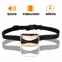 VicTsing Electric Shocks Rechargeable Dog Training Collar Beep Mode, Vibration Mode and Static Shock Mode — Golden