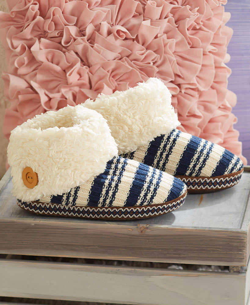 Blue LUK-EES BY MUK-LUKS Boot Slippers