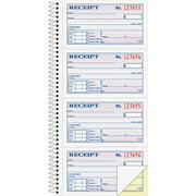 Adams 2-Part Rent Receipt Record Book, Carbonless, 200 Forms, 2 3/4 x 4 3/4