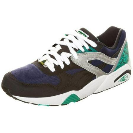 5a058276601df Puma - Puma Trinomic R698 Mens Black/Blue Sneakers - Walmart.com