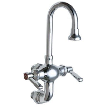 Chicago Faucets 225-AB Wall Mounted 1.5 GPM Utility / Service Faucet - Commercial Grade (Mounted Utility Faucet)