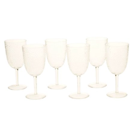 Certified International All Purpose Acrylic Goblet, 16-Ounce, Clear, Set of 6