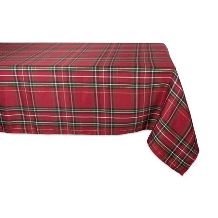 DII Holiday Metallic Plaid Tablecloth, 60x120