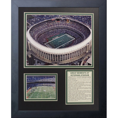 Legends Never Die Philadelphia Eagles Veterans Stadium Framed Memorabili